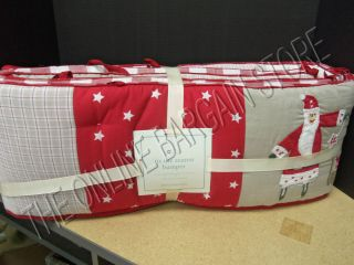Pottery Barn Kids Baby Nursery Tis Season Christmas Crib Bumper Bed Skirt