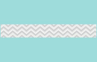 Baby Kids Chevron Wall Paper Border for JoJo Zig Zag Turquoise and Gray Bedding