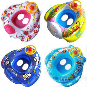 Baby Kid Toddler Boy Girl Swim Pool Bath Boat Ring Raft Float Tube Seat Safe Aid