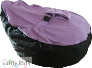 Baby Toddler Kids Portable Bean Bag Seat Snuggle Bed Black Purple