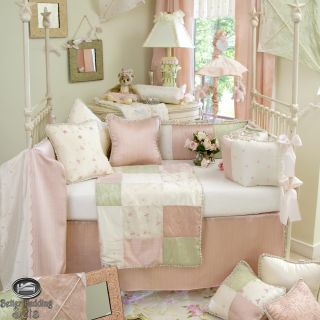 Baby Girl Pink Green Quilt Crib Nursery Newborn Collection Best Bedding Room Set