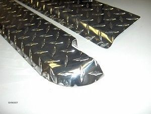 88 98 Chevy GMC C K Short Bed Formed Brite Diamond Plate Bed Rail Caps w O Holes