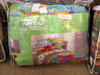Sesame Street Elmo Big Bird ABC Twin Comforter 3 Piece Sheet Set Bed in A Bag
