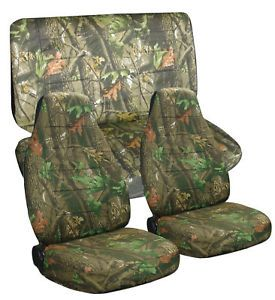 Jeep Wrangler YJ Camo Car Seat Covers Front Rear