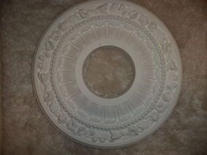 Art Deco Light Fixture Ceiling Wall Cover Medallion