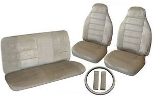 Quality Tan Car Truck Seat Cover High Back Buckets Bench Accessories 3