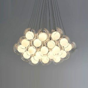 Modern 19 Glass Soapsuds Ball Pendant Light Chandeliers Ceiling Fixtures