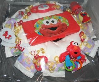 New Baby Diaper Wreath Baby Shower Decor Sesame Street Elmo Boy Girl