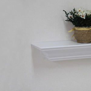 24 L x 5 1 4 w x 3 1 4 H inch White Wall Mounted Fireplace Mantel Wall Shelf