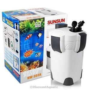 100 Gallon Aquarium Fish Tank External Canister Filter Media Kits Self Priming
