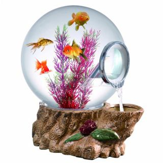 Aquatica Forest Tree Magic Globe Fish Aquarium with LED Light 5 Gallon