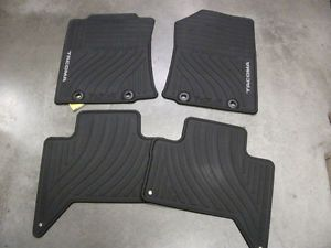 2012 Toyota Tacoma All Weather Floor Mat Set Black PT908 35122 20 Double Cab