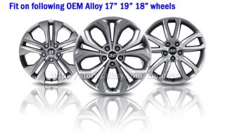 "2013 Hyundai All New Santa FE DM 17"" 18"" 19"" Wheel Hub Caps Set of 4"