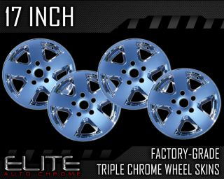 "2009 2011 Dodge RAM 17"" Chrome Wheels Skins Covers"