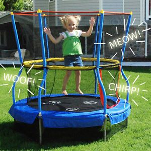 "Skywalker Trampolines with Enclosure Net 55"" x 55"" Kids Bouncer Fun Gym New"