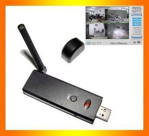 New 4 Channel Wireless Receiver A V 2 4GHz USB PC DVR Motion Detect Vista 32bit