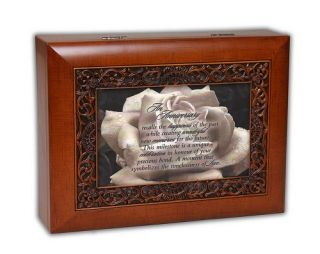 Anniversary Poem Rose Music Jewelry Box Love Gift Plays Ave Maria MBORWGMB1285AV