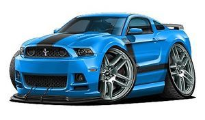 2013 Ford Mustang Boss 302 3 Foot Long Wall Graphic Decal Man Cave Decor Cling