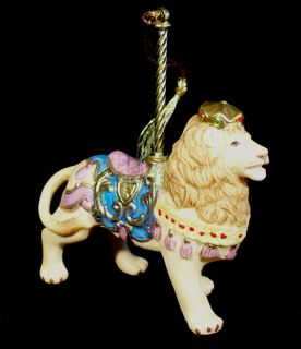 Lenox Carousel Horse Christmas Ornament Lion 1989 Roar