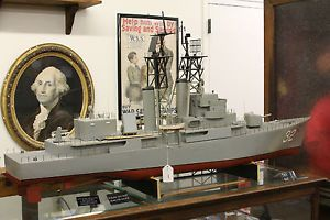 Vintage USS John Paul Jones DDG 32 Handmade Destroyer US SHIP Model 5 ft Long