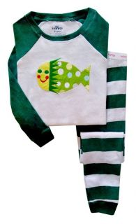 BNWT Baby Kids Toddler Girl Boy Sleepwear Pyjama Set Fish 1 2 3 4 5 6 Year