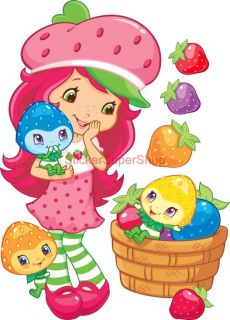 Choose Size Strawberry Shortcake Set Decal Removable Wall Sticker Art Decor
