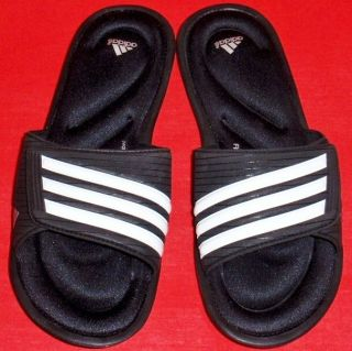 New Womens Black Adidas Adislide Sport FF Fitfoam Flip Flops Slides Sandals Shoe