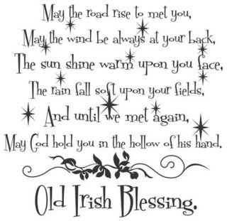 May The Road Rise to Old Irish Blessing Vinyl Wall Decal Sticker Home Decor