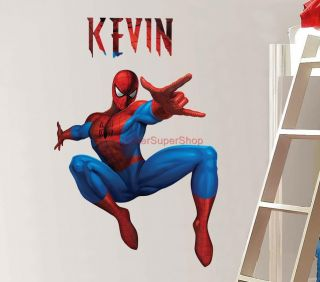 Personalized Spiderman Decal Removable Wall Sticker Home Decor Art Comcs Amazing