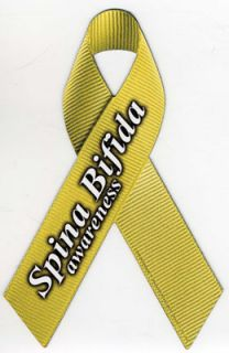 Spina Bifida Awareness Car Ribbon Magnet