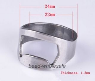 2X New Fashion Stainless Steel Finger Ring Bottle Opener for Bar Beer Wine