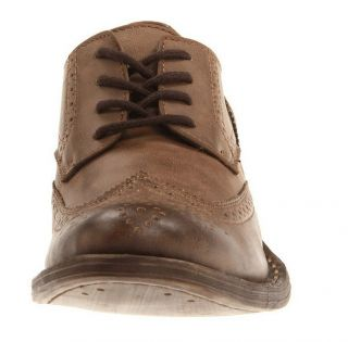 Unlisted Kenneth Cole Vintage Edition Men's Wing Tip Brown Oxfords Size 13