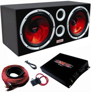 "XXX XBX 1200 12"" 1200W Car Subwoofers Subs Amplifier Amp Kit Sub Box Package"