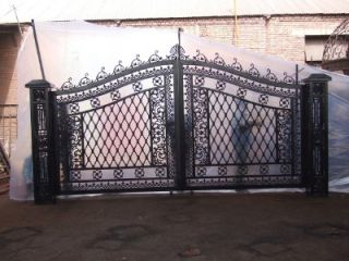 Hand Made Antique Style Cast Iron Driveway Gates Gate 14