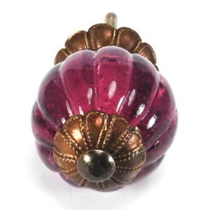Light Berry Glass Cabinet Knobs Cupboard Drawer Pulls Round Handles K169 F