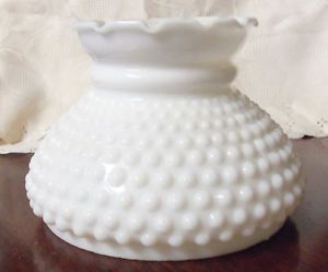 Fenton Hobnail Milk Glass Lamp