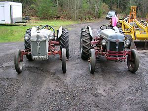 Two Ford 8N Tractor Tractors One with Backblade Runs Good