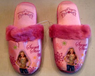 Hannah Montana Secret Star Slippers Size Children 4 5
