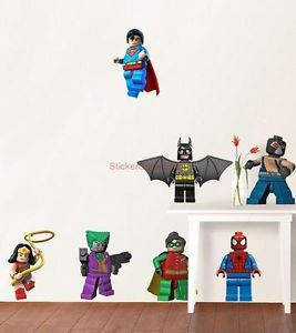 Lego Batman 11 Characters Decal Removable Wall Sticker Home Decor Art Superman