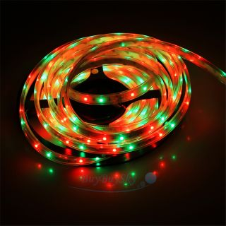 5M 16ft 300 LEDs RGB Colorful Tube Waterproof IP65 SMD 3528 LED Light Strips 12V