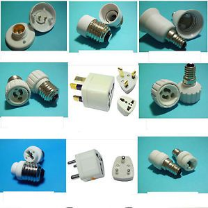 Style E27 E14 G9 GU10 LED Lamp Light Bulb Holder UK EU Plug Outlet Converter