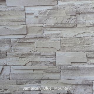 Stone Stonewall Pattern DIY Self Adhesive Wall Contact Paper Roll 5M 16ft