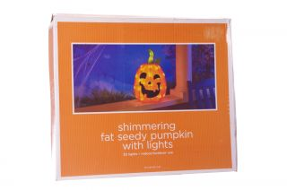 Orange Pumpkin Halloween Lawn Decoration Indoor Outdoor Light Jack O Lantern New