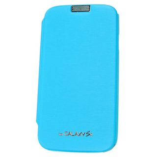 Samsung Galaxy S4 Ultra Light Slim Flip Cover Leather Case Skin Pouch Sky Blue