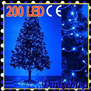 2012 Christmas Xmas Indoor Decor Tree 20M 200 Super Bright Blue LED String Light