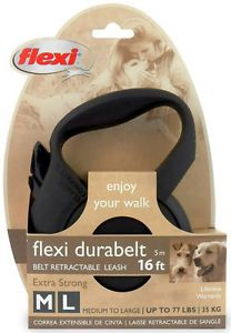 Flexi Durabelt Retractable Leash 16ft Extra Strong New M L Dogs Up to 77lbs