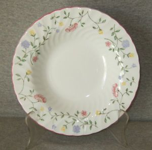 Johnson Bros Summer Chintz Rimmed Soup Bowl Mint