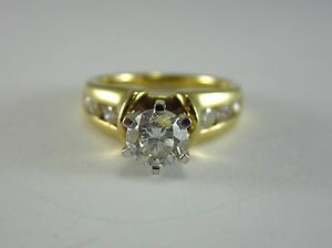 Estate 1 01ct Engagement Style 14k Two Tone Gold Diamond Ring GIA $3 295 00