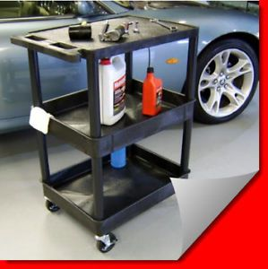 Heavy Duty Garage Lab Kitchen Storage Service Utility Wheeled Cart w with Wheels