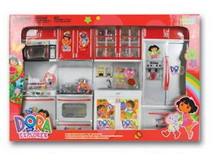 ★light Sound★dora The Explorer Mini Kitchen Pretend to Play Kids Furniture Toy